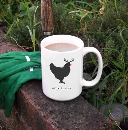 Christmas Chicken Mug