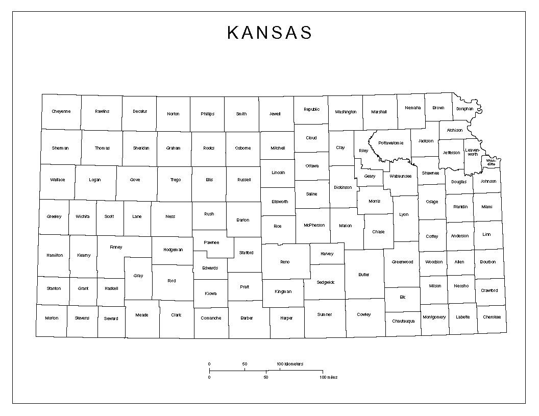 Kansas Labeled Map
