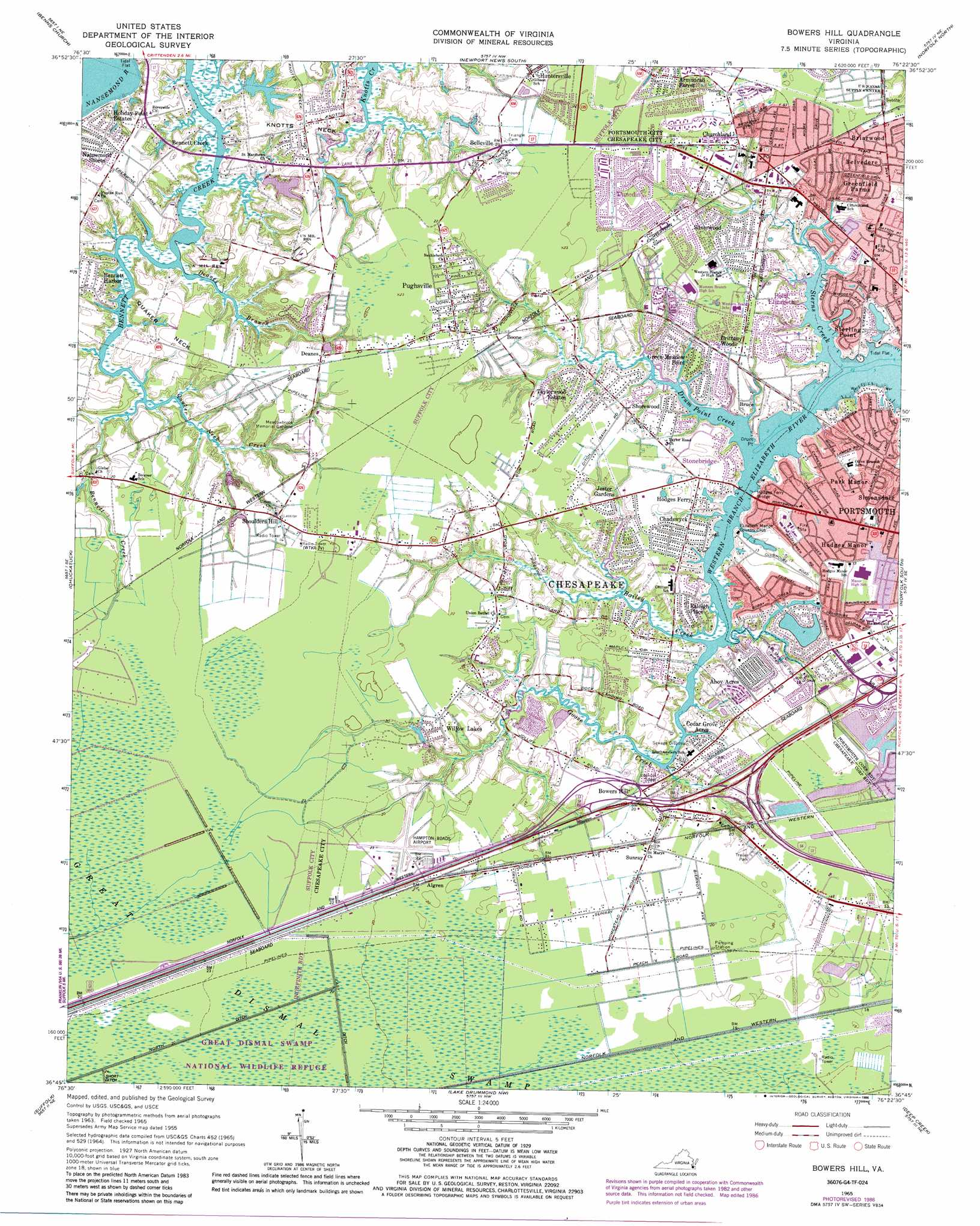 Bowers Hill Topographic Map Va