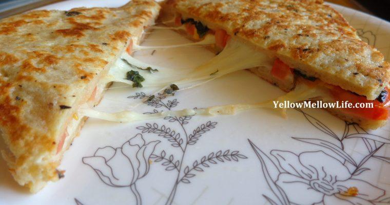 Mozzarella in Carrozza with a touch of Margherita