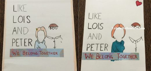 anniversary card DIY for family guy fan