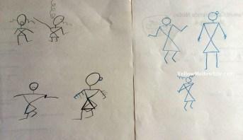 warli painting for kids basic warli sketches - Painting Sketches For Kids