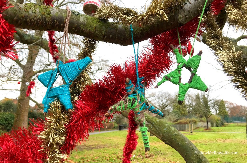 Stick Star Outdoor Christmas Ornaments | #25DaysofOrnaments | Christmas Project 2017