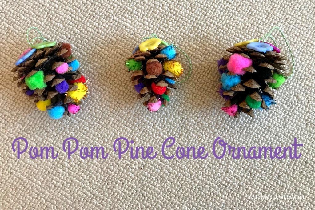 Pom Pom Pine Cones Christmas Ornaments | #25DaysofOrnaments | Christmas Project 2017