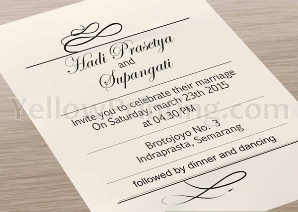 Print Your Wedding Invitation Cards