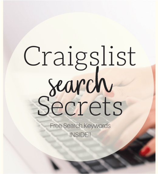 Craigslist Search Secrets! Learn how to shop faster and easier on Craigslist. || Yellow Rose Life ||