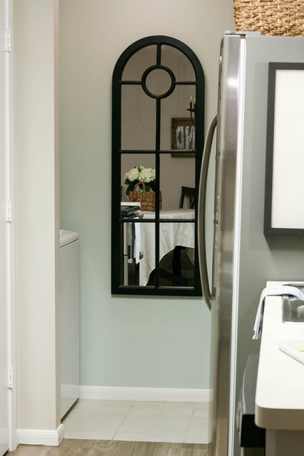 Yellow Rose House Breakfast Nook, Kitchen, and Laundry Room Reveal. Neutral Colors, French Country Modern Farmhouse.