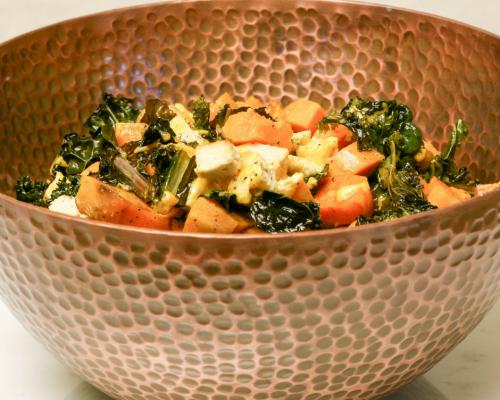 Sweet Potato & Kale Casserole || Yellow Rose Life ||