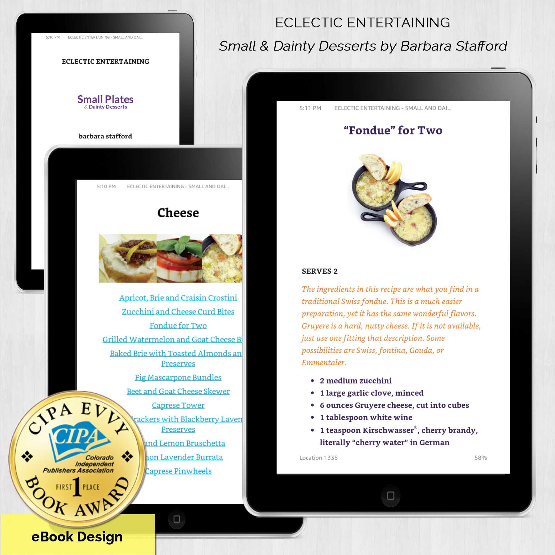 YellowStudios Wins Another First Place Award – eBook Design for a Cookbook…