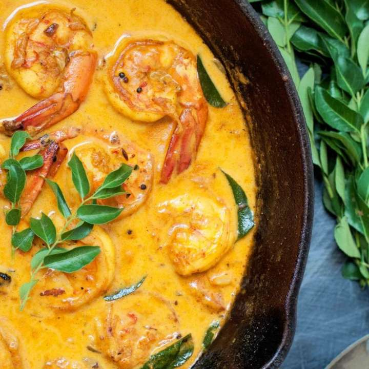 Easy to make Kerala Prawn curry with Coconut Milk and Kokum.