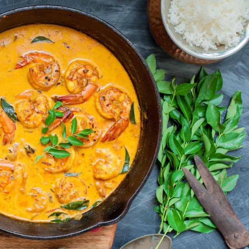 Kerala Prawn Curry - Malabar Chemmeen Curry