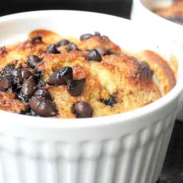 Chocolate and Banana Bread Pudding