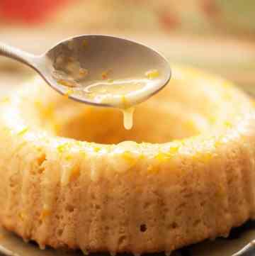 Orange pound cake with zesty orange glaze