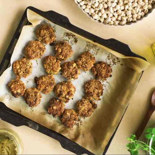 Healthy Baked Chickpeas Falafels