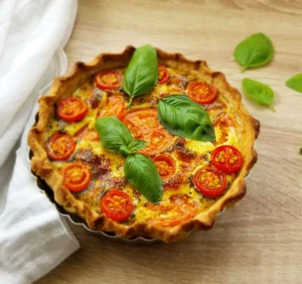 Basil Tomato Savoury Tart