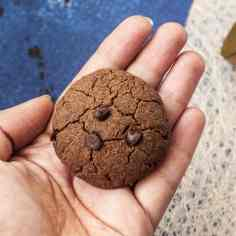Healthy Double Chocolate Chip Ragi Cookies
