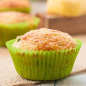 Eggless Cheese Muffins