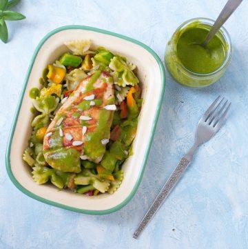Light Pasta Salad with Cilantro Dressing