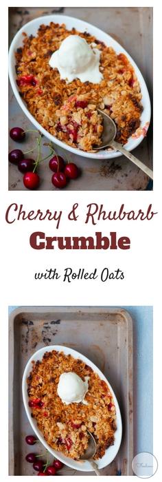 Cherry & Rhubarb Crumble