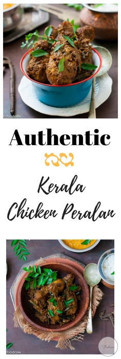 Malabar Chicken Peralan - Kerala Style Chicken Roast