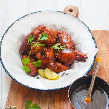 Thai Three Flavoured Sticky Chicken Wings