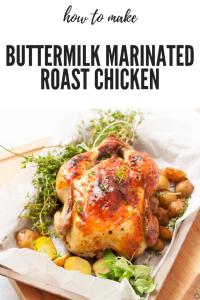Easy to make Buttermilk Marinated Roast Chicken Recipe.Moist and Juicy Sunday Chicken Roast recipe with Garlic,Herbs & Pepper #chicken #roastchicken #sundayroast #easychickenrecipe #recipe #chickenrecipe #buttermilkchicken #moistchicken #howtoroastchicken