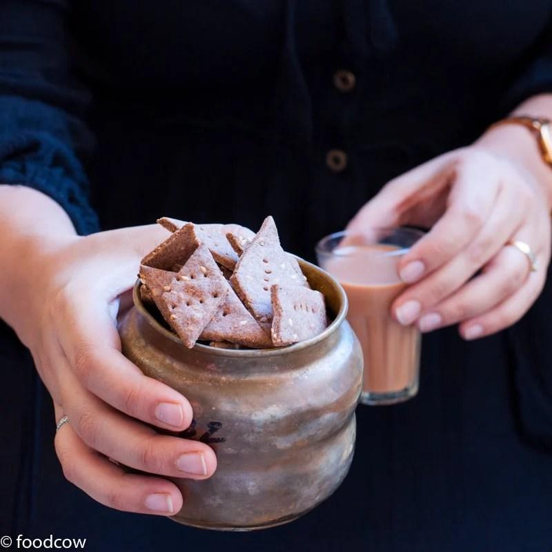 Baked Ragi Namak Pare | Healthy Baked Savory Snack