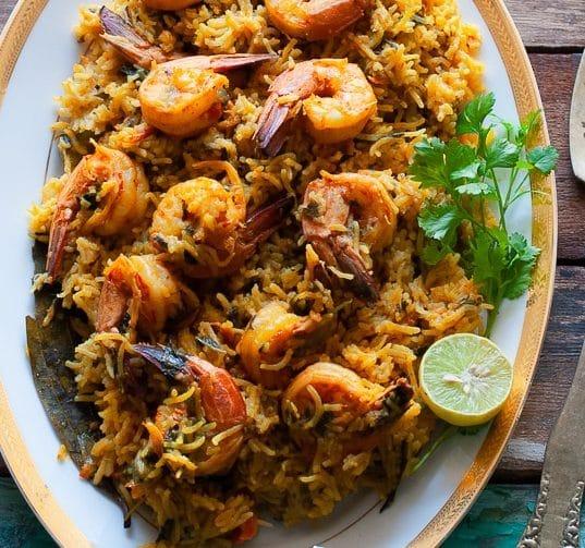 Shrimp Pulao in instant pot
