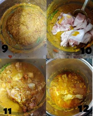 Instant Pot Indian Chicken Curry - adding chicken and pressure cooking