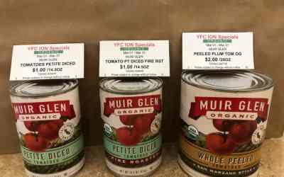 Organic Muir Glen tomatoes