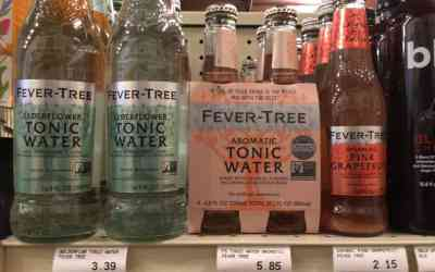 Fever-Tree Elderflower Tonic Water and Sparking Pink Grapefruit