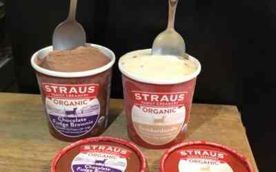 Straus Organic Snickerdoodle & Chocolate Fudge Brownie pints