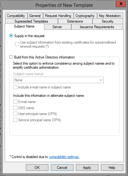 Creating a microsoft certificate authority template for ssl adding a new template to certificate templates yelopaper Choice Image