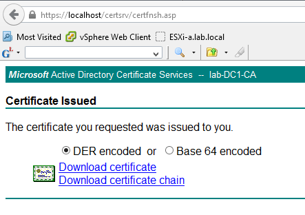 Certificate Download Page