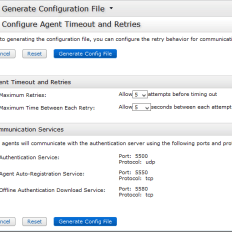 Generate Configuration File