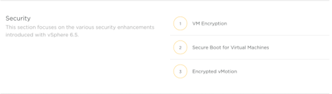 vSphere 6.5 Security Product Walkthroughs
