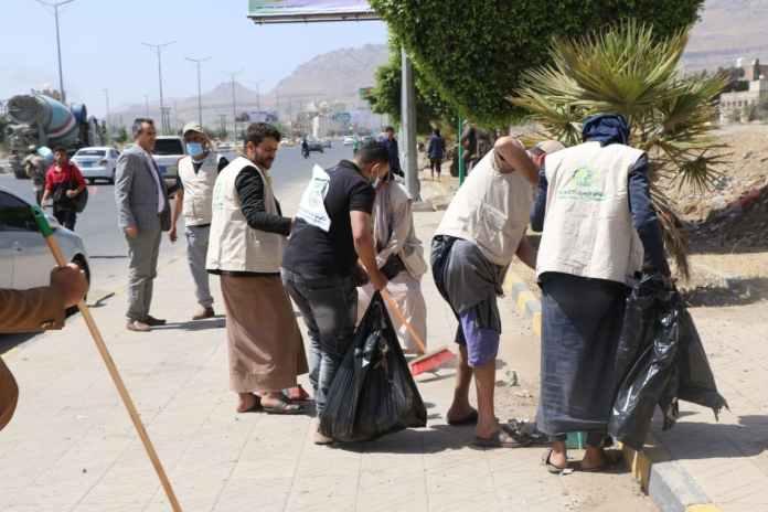 أنعام اليمن للتنمية تنفذ حملة نظافة في عدد من شوارع أمانة العاصمة