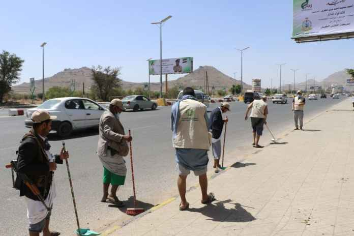 أنعام اليمن للتنمية تنفذ حملة نظافة في عدد من شوارع أمانة العاصمة3