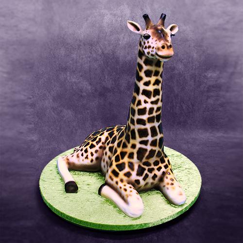 How The 3D Giraffe Cake Was Made Yeners Way