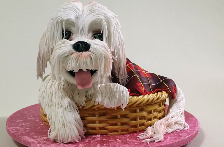 3d Puppy Dog In A Basket Cake Yeners Way