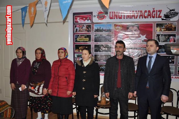 AK Parti Şalpazarı İlçe Danışma Meclisi Toplantısı, saygı duruşu ve İstiklal Marşımızın okunmasıyla başladı