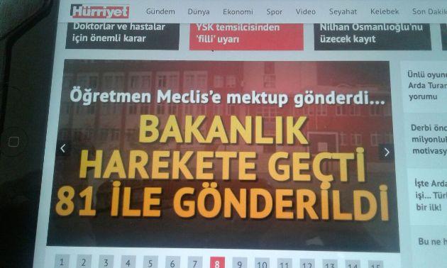 Öğretmen Muhammet Türkmen'in söz konusu tasarruf dilekçesinin dikkate alınması bir çok medya organına konu oldu