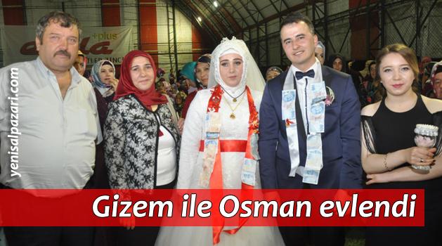 Gizem Aydemir ile Osman Geldi dünya evine girdi