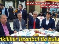 İstanbul'da Geyikli dayanışması
