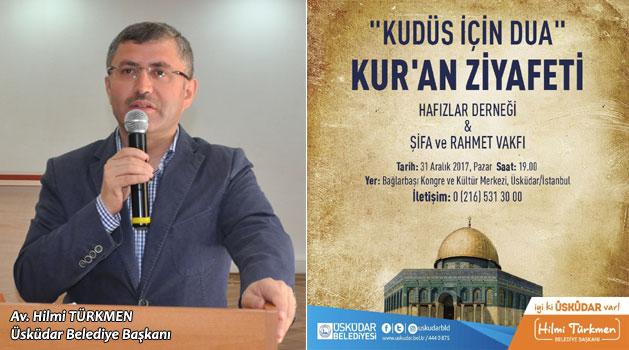 Üsküdar'da Kudüs için Dua ve Kur'an Ziyafeti