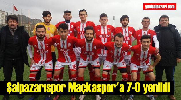 Maçkaspor'dan Şalpazarıspor'a ağır darbe ! 7-0