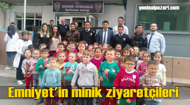 Ali İbrahimağaoğlu Anaokulu Öğrencileri Polisi ziyaret etti