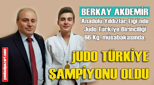 Şalpazarılı Berkay Akdemir Judo Türkiye birincisi oldu