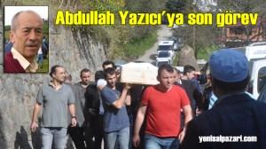 Abdullah Yazıcı'nın cenazesi Sugören Mahallesi'nde toprağa verildi