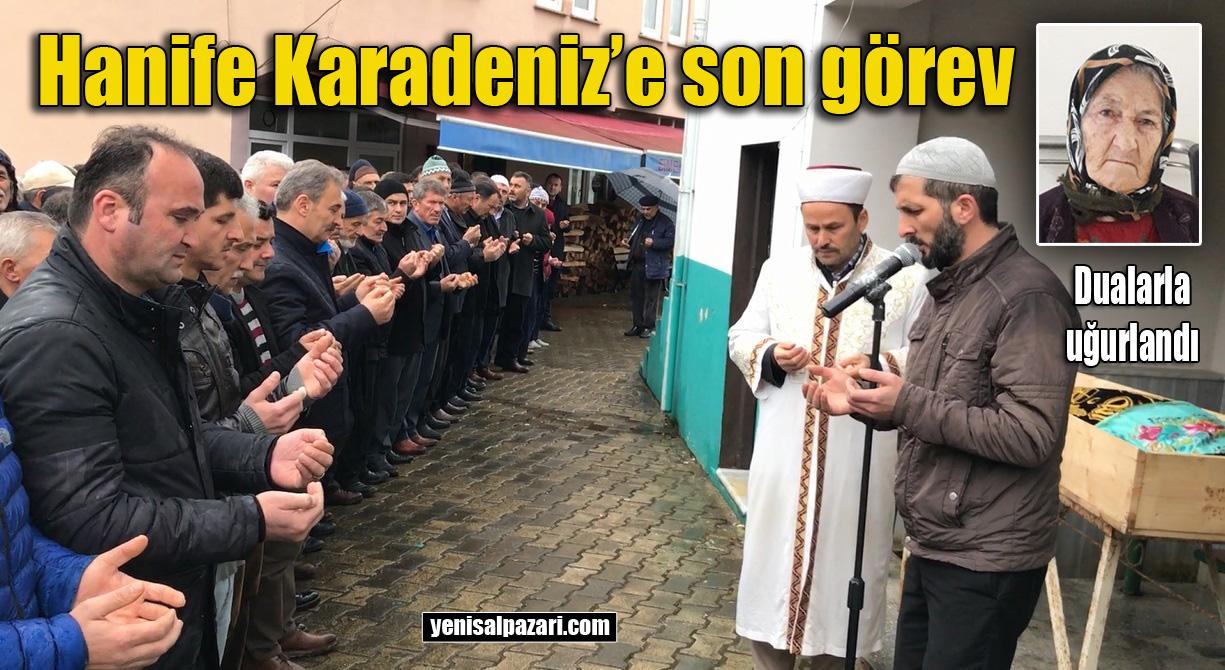Hanife Karadeniz'in cenazesi Simenli Mahallesi'nde toprağa verildi